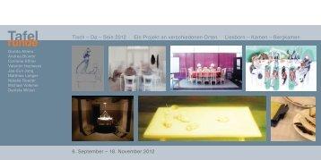 6. September – 18. November 2012 Tisch – Da ... - Stadt Kamen