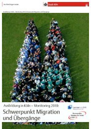 Ausbildung in Köln - Monitoring 2010: Schwerpunkt ... - Stadt Köln