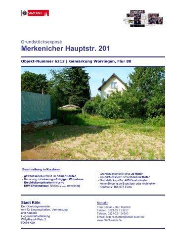 Merkenicher Hauptstr. 201 - Stadt Köln