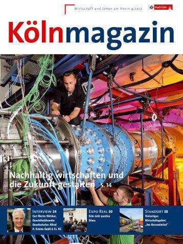 Kölnmagazin 4/2012 [ PDF , 7534 KB ] - Stadt Köln