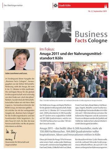 Business Facts Cologne Nr. 2/September 2011 [ PDF - Stadt Köln