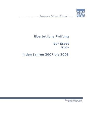 BERATUNG • PRÜFUNG • SERVICE - Stadt Köln