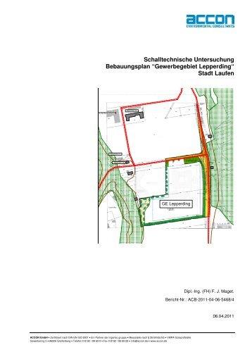Schalltechnische Untersuchung Bebauungsplan ... - Stadt Laufen