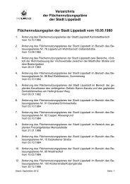 Verzeichnis der Flächennutzungspläne - Lippstadt