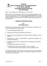 Vergnügungssteuersatzung - Lippstadt