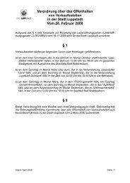 Verordnung über das Offenhalten von Verkaufsstellen - Lippstadt