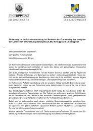 Einladung zur Auftaktveranstaltung am 19.06.2012 - Lippstadt