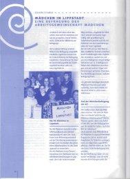 Auszug aus dem 9. Rundbrief der LAG Mädchenarbeit - Lippstadt