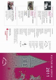 Kulturprogramm 2011 - Stadt Lorch
