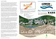 Das historische Lorch - mit Stadtplan - Lorch im Rheingau