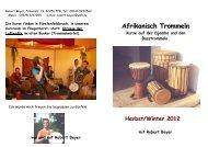 Afrikanisch Trommeln - Sonnenstrahl-online.de