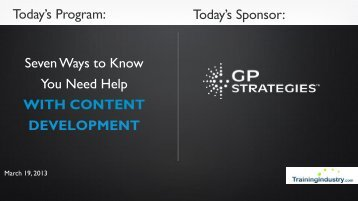 Today's Sponsor: Seven Ways to Know You Need Help WITH CONTENT DEVELOPMENT
