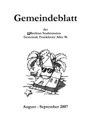 Unsere regelmäßigen Termine - Berliner Stadtmission