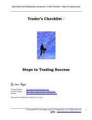 By Lance Beggs Trader's Checklist - Steps to Trading Success