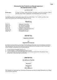 Satzung über das Friedhofs- und Bestattungswesen der Stadt ...