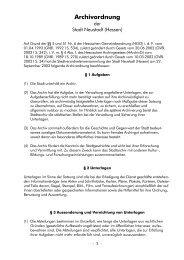 Archivordnung - Stadt Neustadt