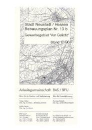 Bebauungsplan - Magistrat der Stadt Neustadt