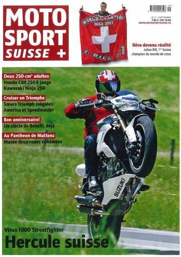 Article paru dans Moto Sport Suisse de 09.2011 - Moto Virus