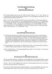 Verwaltungskostensatzung der Stadt Neustadt (Hessen)