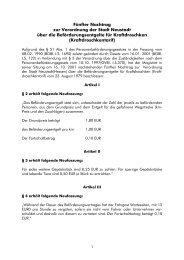 Fünfter Nachtrag - Stadt Neustadt