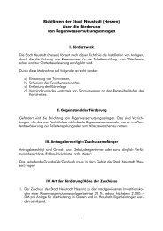 Regenwassernutzungsanlagen - Stadt Neustadt