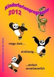 Kinderferienprogramm 2012 - Gemeinde Sontheim an der Brenz
