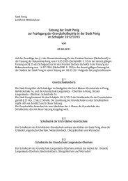 Satzung der Stadt Penig zur Festlegung der Grundschulbezirke in ...