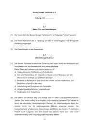 Unsere Satzung als PDF - Sonwik
