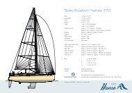 Specification Hanse 370 - Sonwik