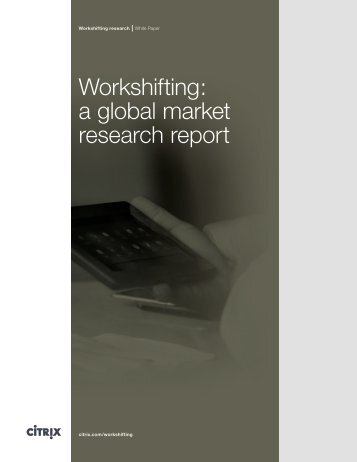 Workshifting: a global market research report
