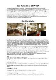 Info-Flyer Sophienkirche - in der Evangelischen Kirchengemeinde ...