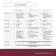 DEZEMBER | JANUAR 2012 | 13 GOTTESDIENSTE