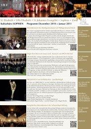 Kulturbüro SOPHIEN Programm Dezember 2010 + Januar 2011 St ...
