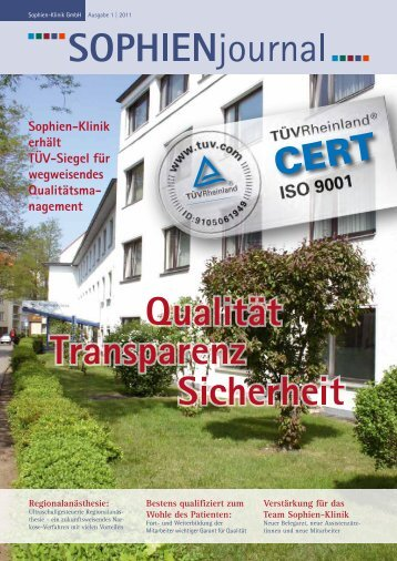 Ausgabe 1-2011 - Sophien-Kliniken Hannover