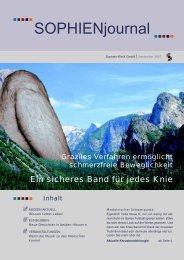 Ausgabe 3-2007 - Sophien-Kliniken Hannover