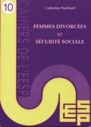 FEMMES DIVORCÉES ET SÉCURITÉ SOCIALE - EESP