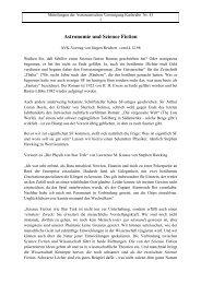 Astronomie und Science Fiction - AVKa