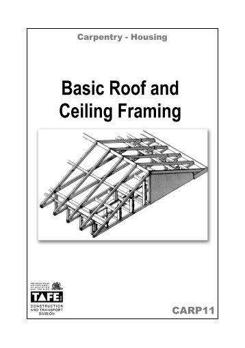 Cover Basic Roof & Ceiling Framing – Nirimba ... - Nirimbatafe.com