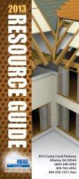 2013 Resource Guide - Home Builders Association of Georgia