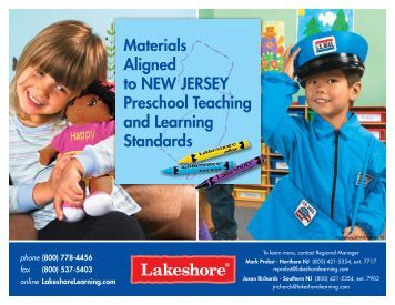 Materials Aligned to New Jersey Preschool Teaching and Learning ...