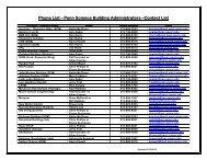 Science Building Administrators Phone List [pdf]
