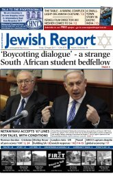 Boycotting dialogue - South African Jewish Report