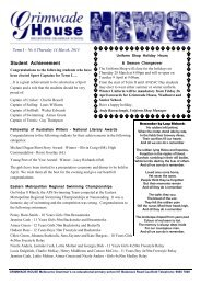 Vol. 6 - 14 March 2013 - Melbourne Grammar School