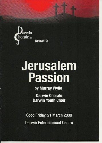 Jerusalem Passion - Darwin Chorale