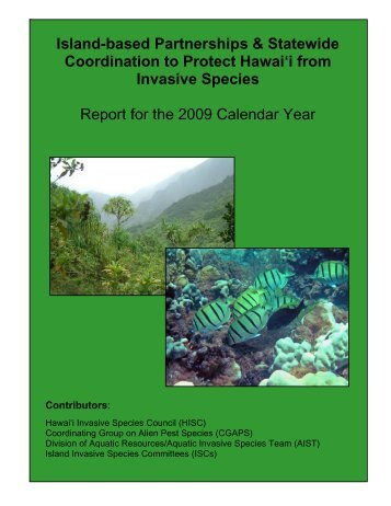 2009 Statewide Report - Hawaii Invasive Species Partnerships