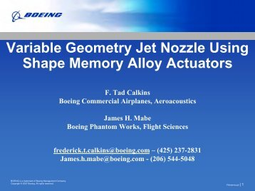 Variable Geometry Chevrons for Jet Noise Reduction: Initial QTD2 ...