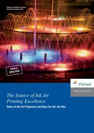 The Source of Ink Jet Printing Excellence - Clariant
