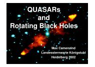 QUASARs and Rotating Black Holes - Landessternwarte Heidelberg ...