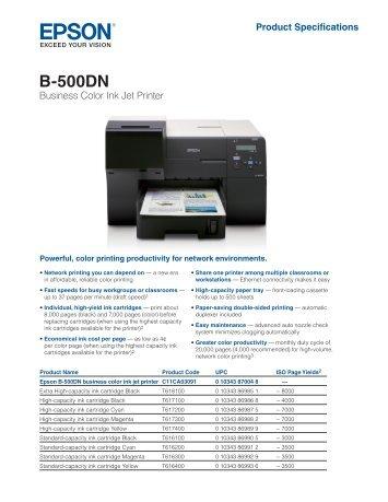 New Driver: Epson B-500DN Business Printer