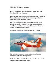 S211 Jet Trainers for sale - SIAI Marchetti aircraft